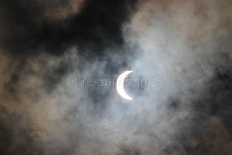 Eclipse solar 2017 imágenes de archivo libres de regalías