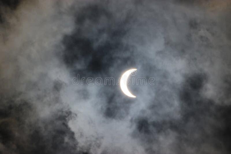 Eclipse solar 2017 fotos de archivo libres de regalías