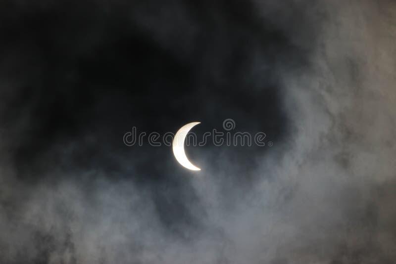 Eclipse solar 2017 fotografía de archivo