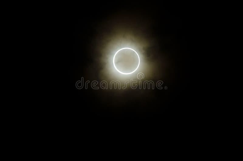 Eclipse solar anular, japão, 2012 foto de stock royalty free
