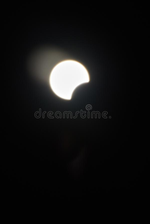 Eclipse solar completo imagens de stock royalty free