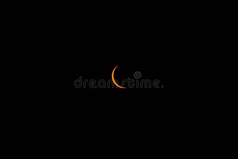 Eclipse solar da unha imagem de stock royalty free