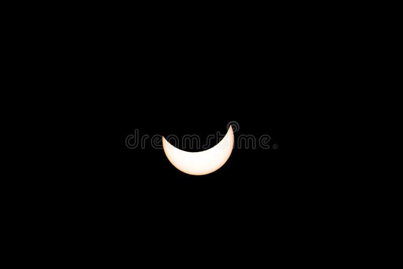 Eclipse solar 20 de março de 2015 fotografia de stock royalty free