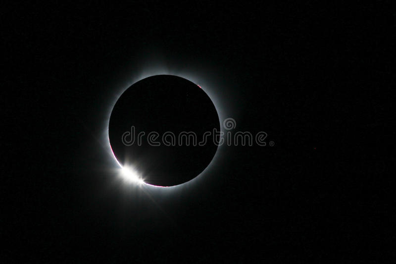 Eclipse solar do 21 de agosto de 2017 foto de stock royalty free