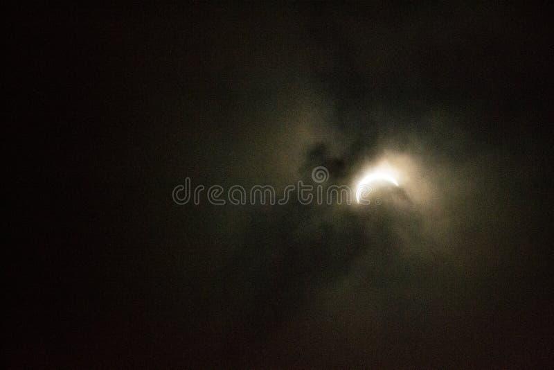 Eclipse solar en Chicago imagenes de archivo
