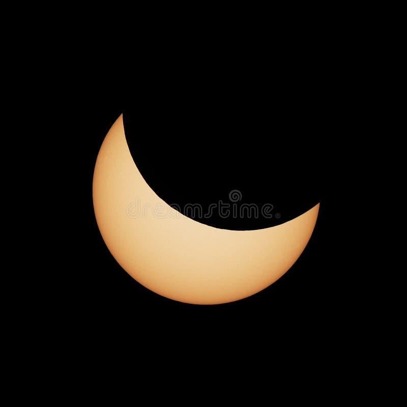 Eclipse solar parcial 20 03 2015 imagem de stock royalty free