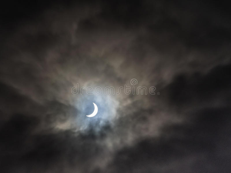 Eclipse solar parcial imágenes de archivo libres de regalías