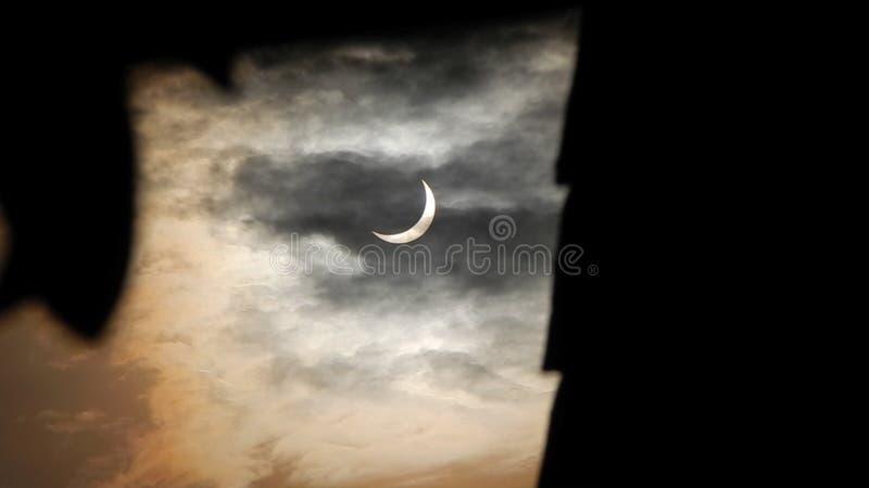 Eclipse solar parcial 2016 imagen de archivo libre de regalías