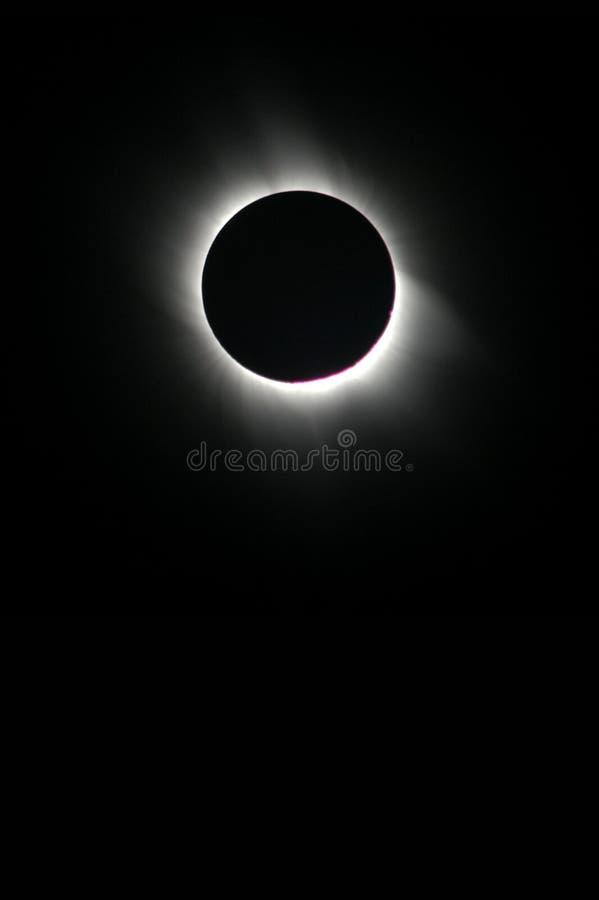 Eclipse solar total imagen de archivo libre de regalías