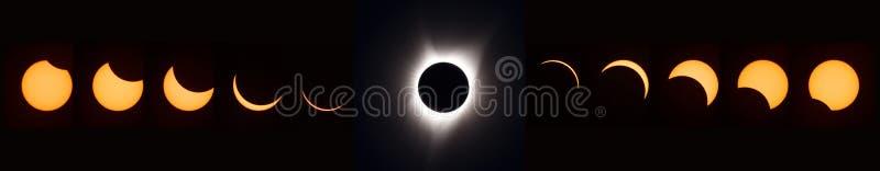 Eclipse solar total 2017 imagem de stock