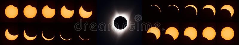 Eclipse solar total 2017 fotografía de archivo libre de regalías