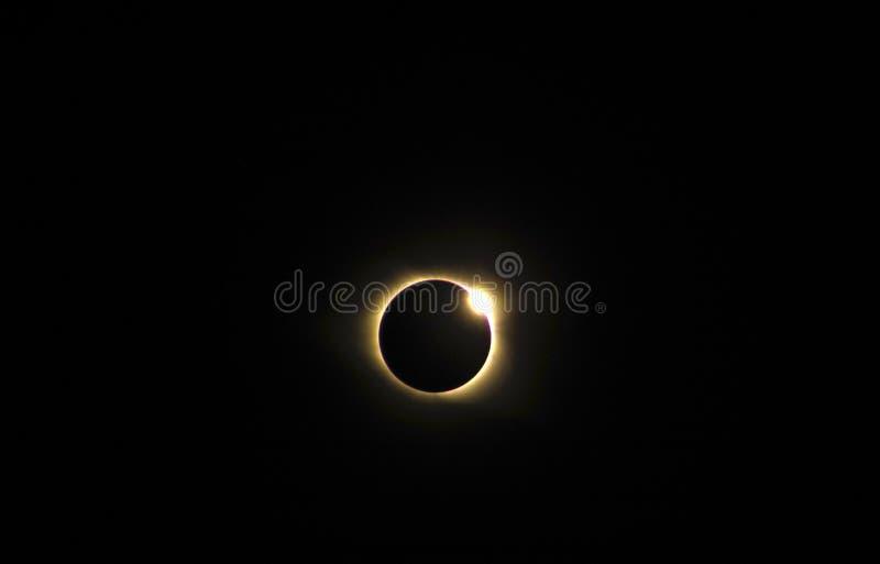 Eclipse 2017 solar total como visto de South Carolina imagem de stock