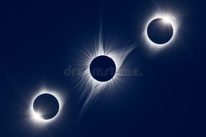 Eclipse solar total norte-americano 2017 ilustração royalty free