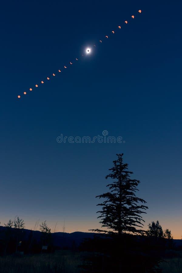 Eclipse solar total norte-americano 2017 foto de stock