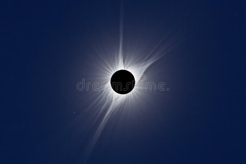 Eclipse solar total norte-americano 2017 fotos de stock royalty free