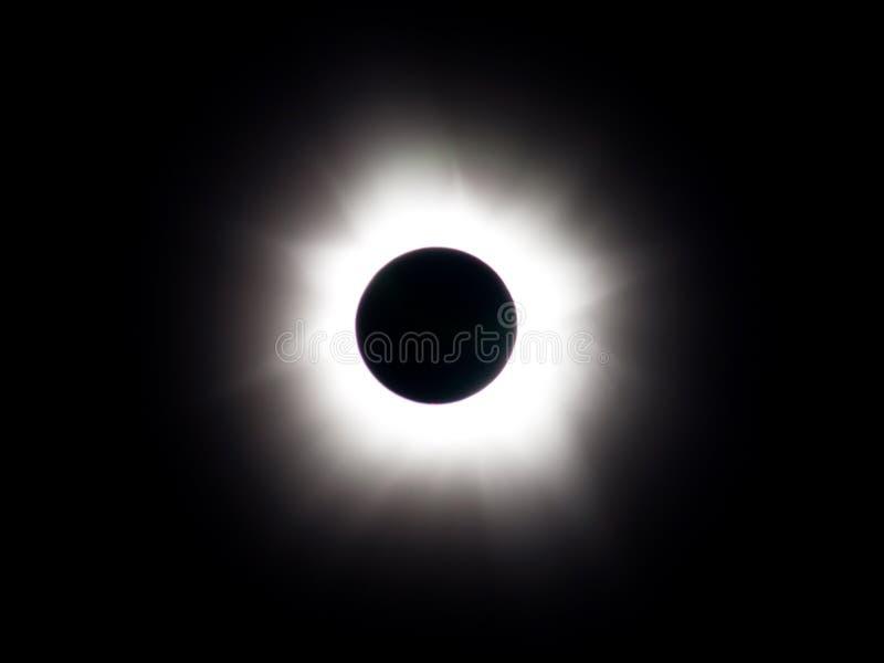 Eclipse solar total - totalidad fotografía de archivo