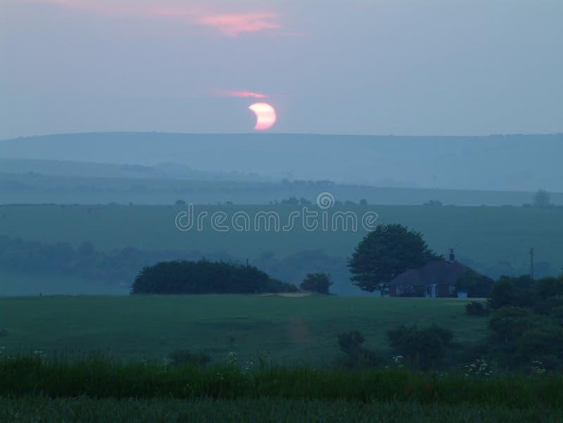 Eclipse solare fotografia stock