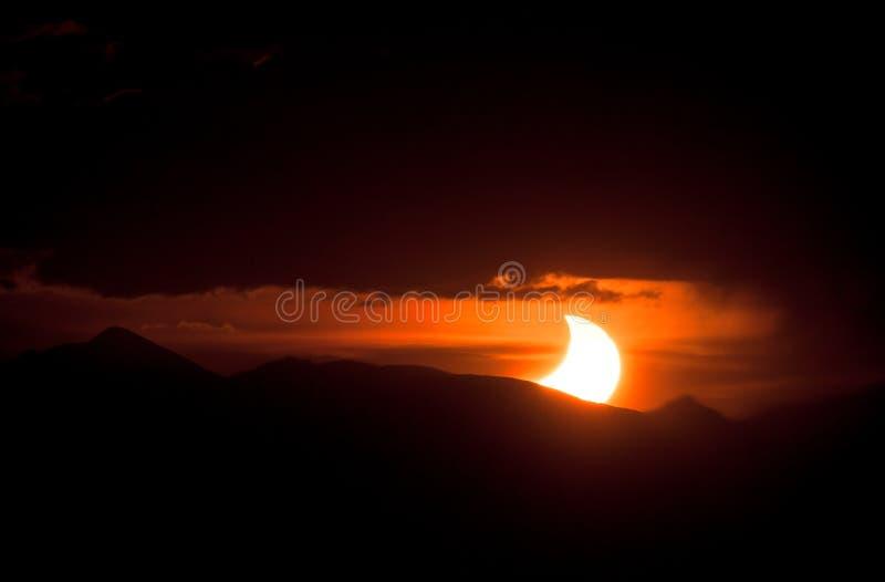 Eclipse solare 2012 fotografia stock