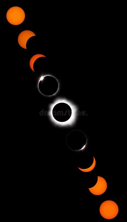 Eclipse solare totale royalty illustrazione gratis