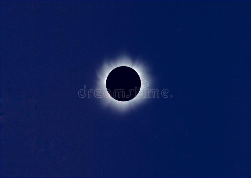 Eclipse solare totale immagini stock