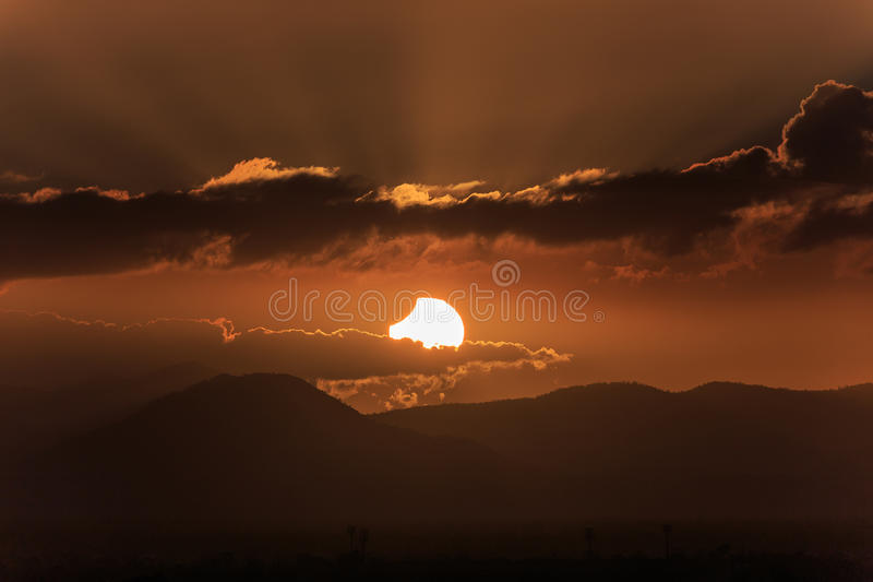 Eclipse Sunset royalty free stock photo
