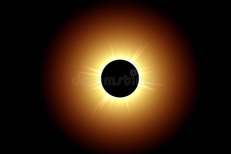 Eclipse total stock de ilustración