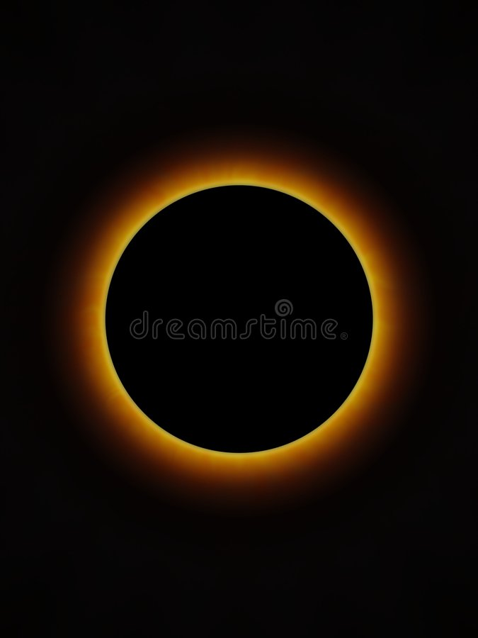 Eclipse total imagens de stock royalty free