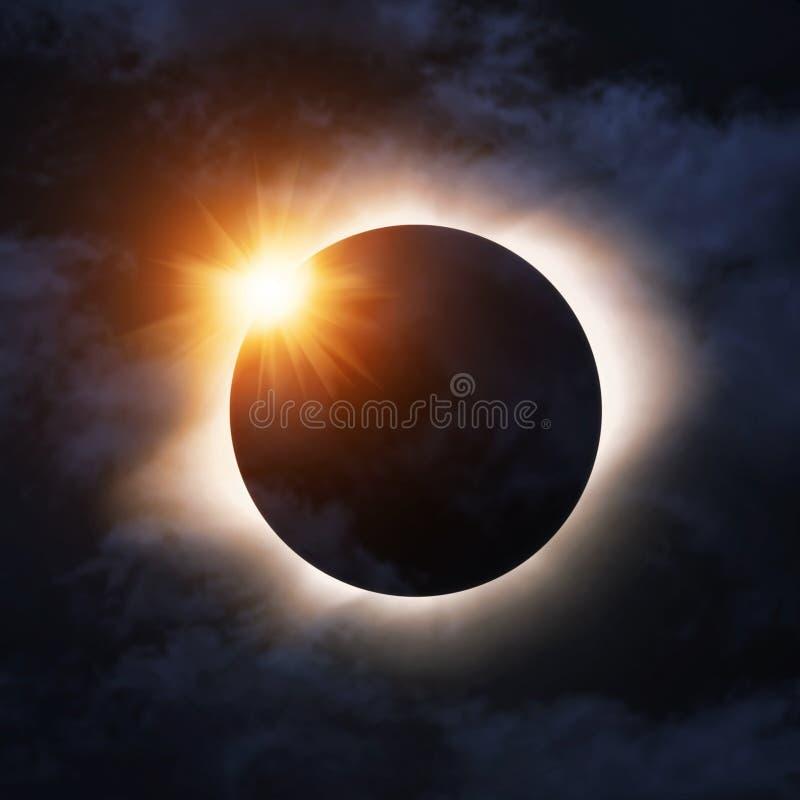 Eclipse total foto de archivo libre de regalías