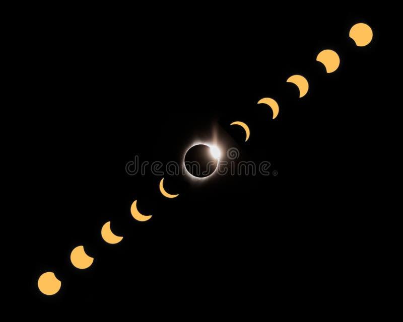 eclipse total 2017 capturado en John Day en Oregon imágenes de archivo libres de regalías