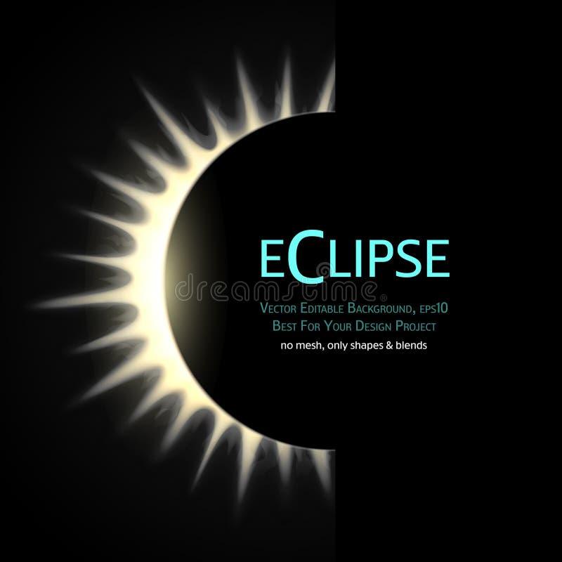 Eclipse total do sol ilustração do vetor