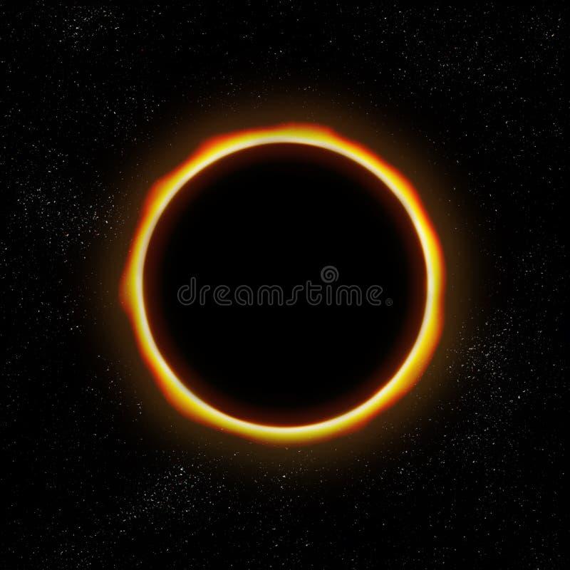 Eclipse total en espacio libre illustration