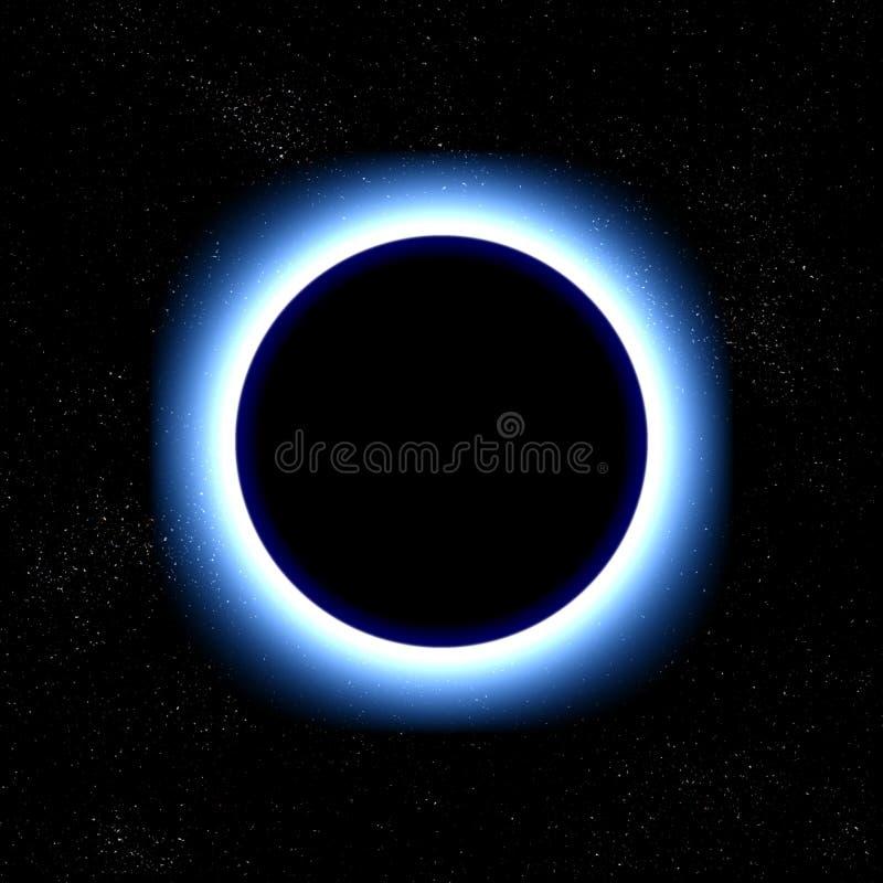Eclipse total no espaço ilustração stock