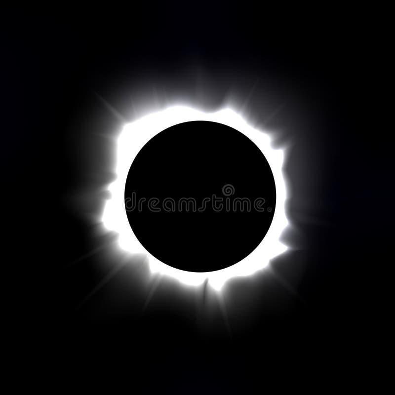 Eclipse. Total solar eclipse vector illustration royalty free illustration