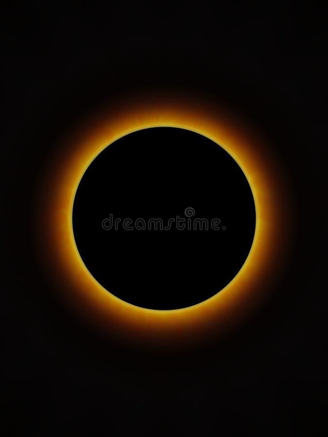 Eclipse totale immagini stock libere da diritti