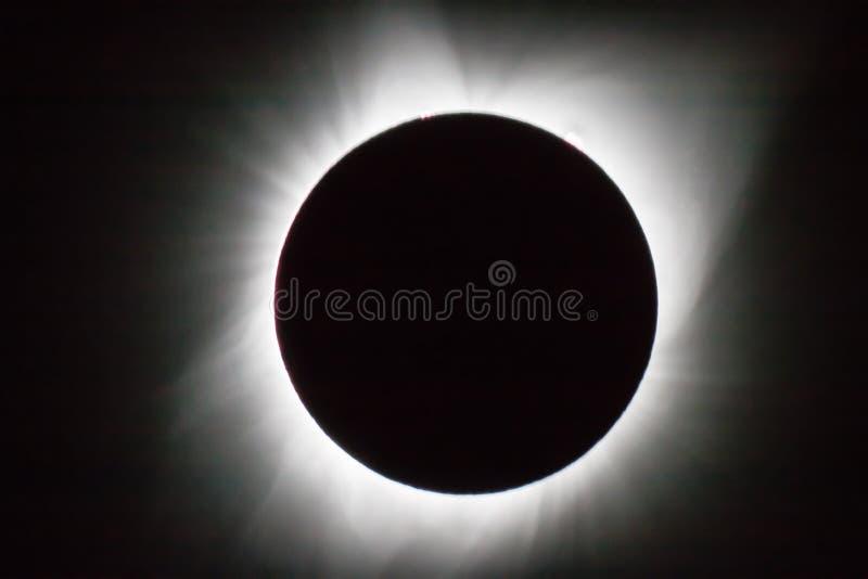 Eclissi 2017 fotografie stock