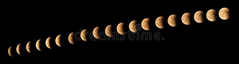 Eclissi della luna fotografie stock libere da diritti