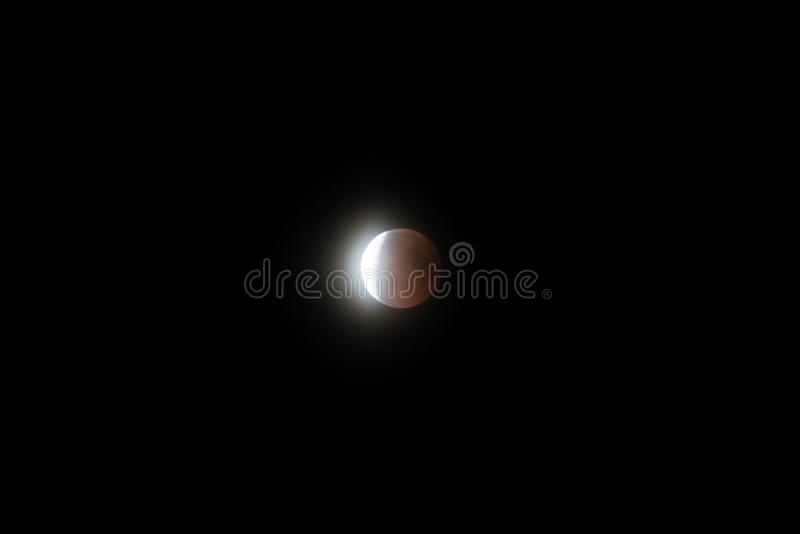 Eclissi lunare il 27 luglio 2018 immagini stock libere da diritti