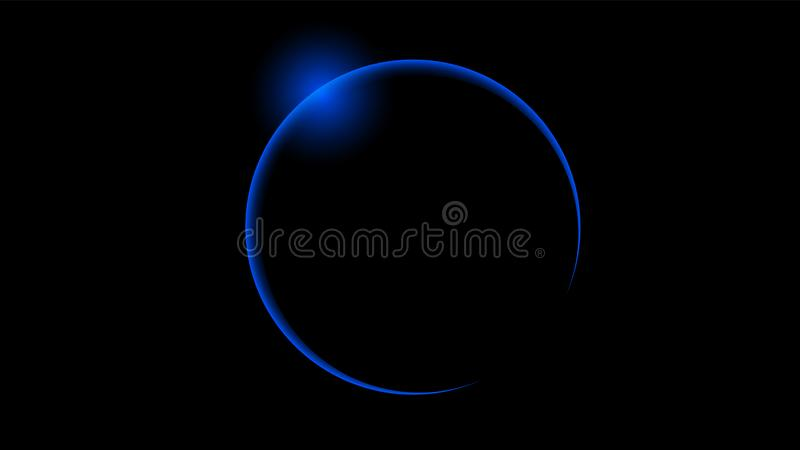 Eclissi solare blu totale royalty illustrazione gratis