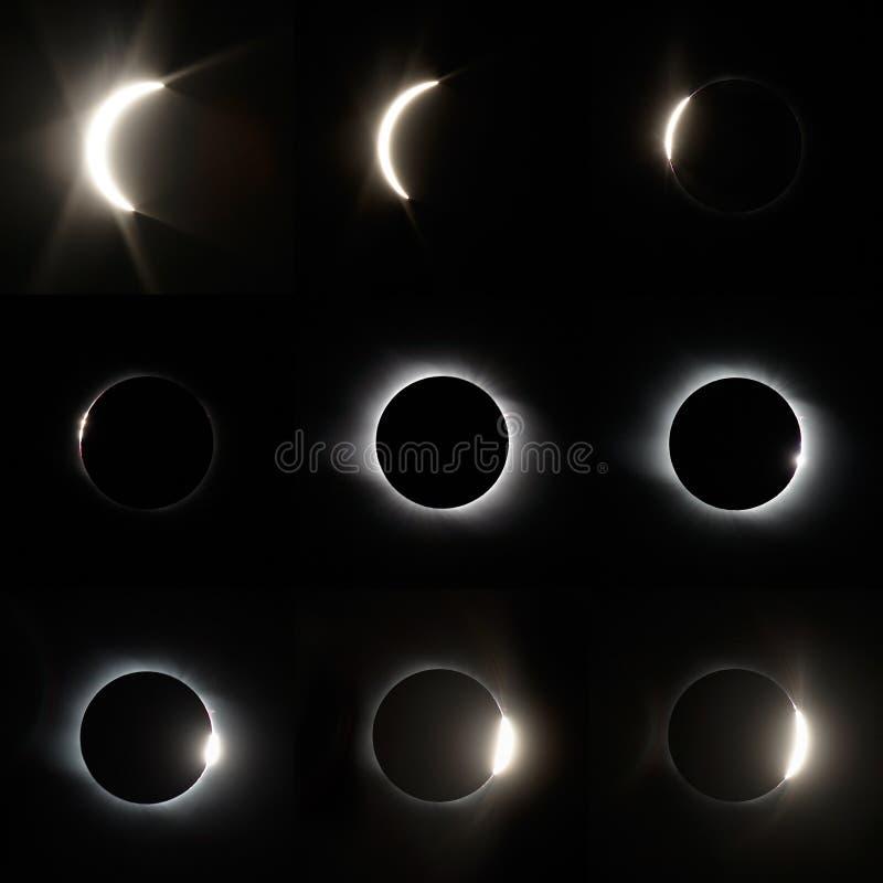 Eclissi solare completa immagini stock libere da diritti