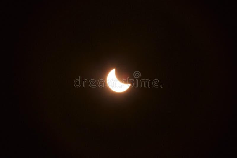 Eclissi solare parziale 2015 fotografie stock
