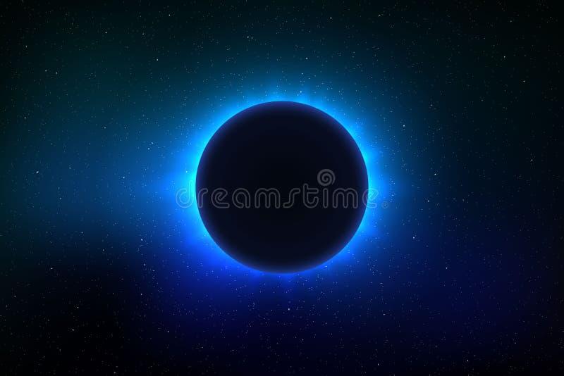 Eclissi solare totale illustrazione vettoriale