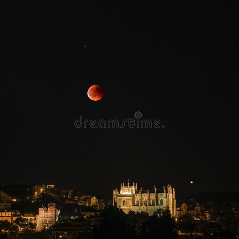 Eclissi su Toledo fotografia stock libera da diritti