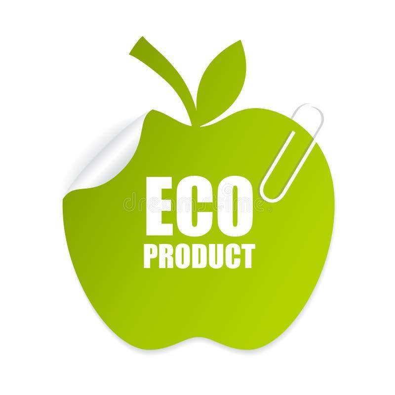 Eco产品标签 向量例证