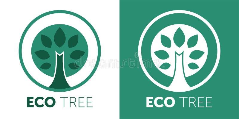 Eco农厂商标设计想法 好人创造性的标志概念的好食物 向量例证