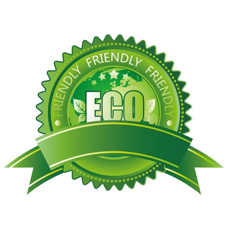 eco友好图标 库存例证