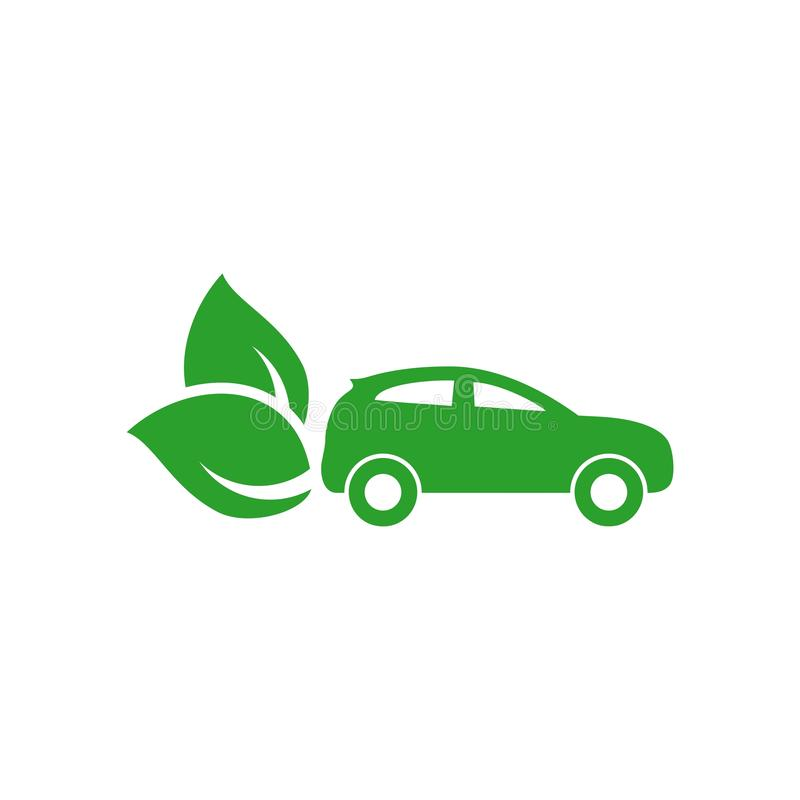 Eco友好的汽车发展,清楚生态驾驶 皇族释放例证
