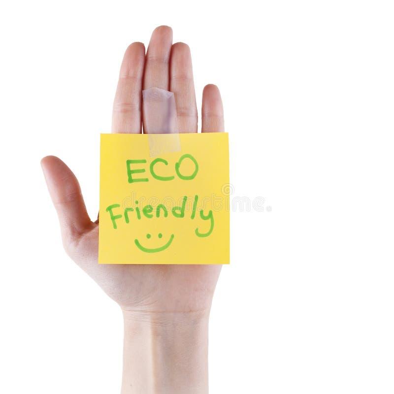 Eco友好的笔记 库存照片