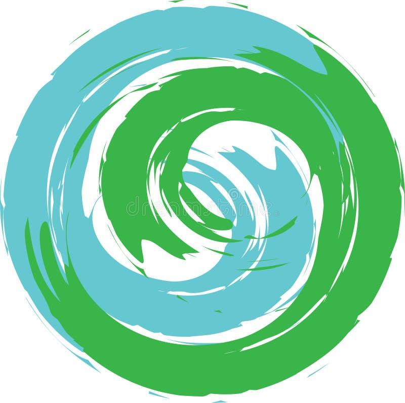 Eco商标行星地球 皇族释放例证