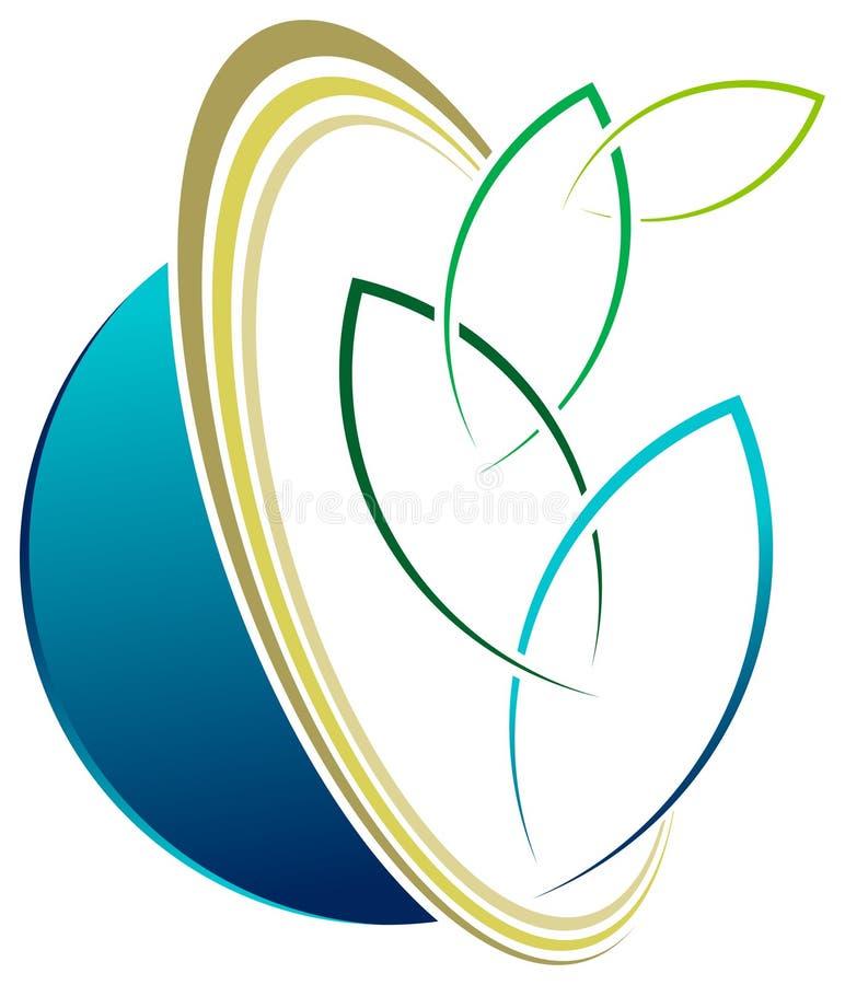 Eco商标 皇族释放例证