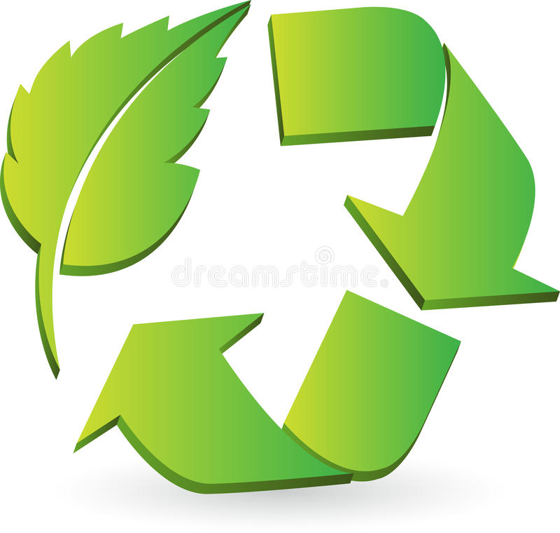 Eco回收商标 库存例证